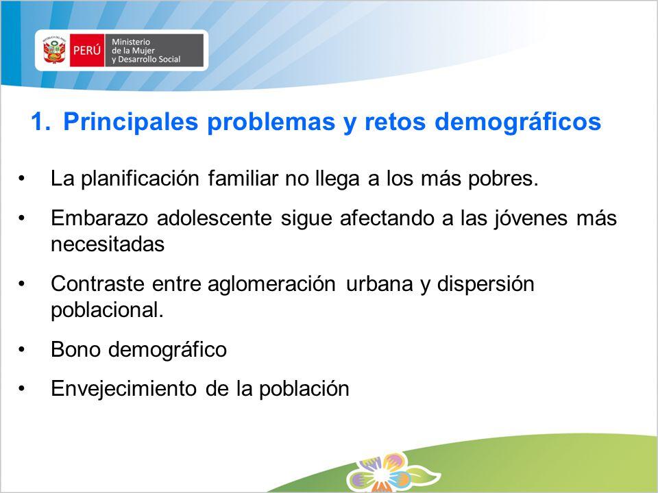 Principales problemas y retos demográficos