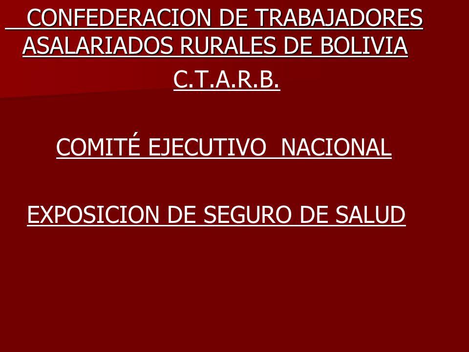 CONFEDERACION DE TRABAJADORES ASALARIADOS RURALES DE BOLIVIA