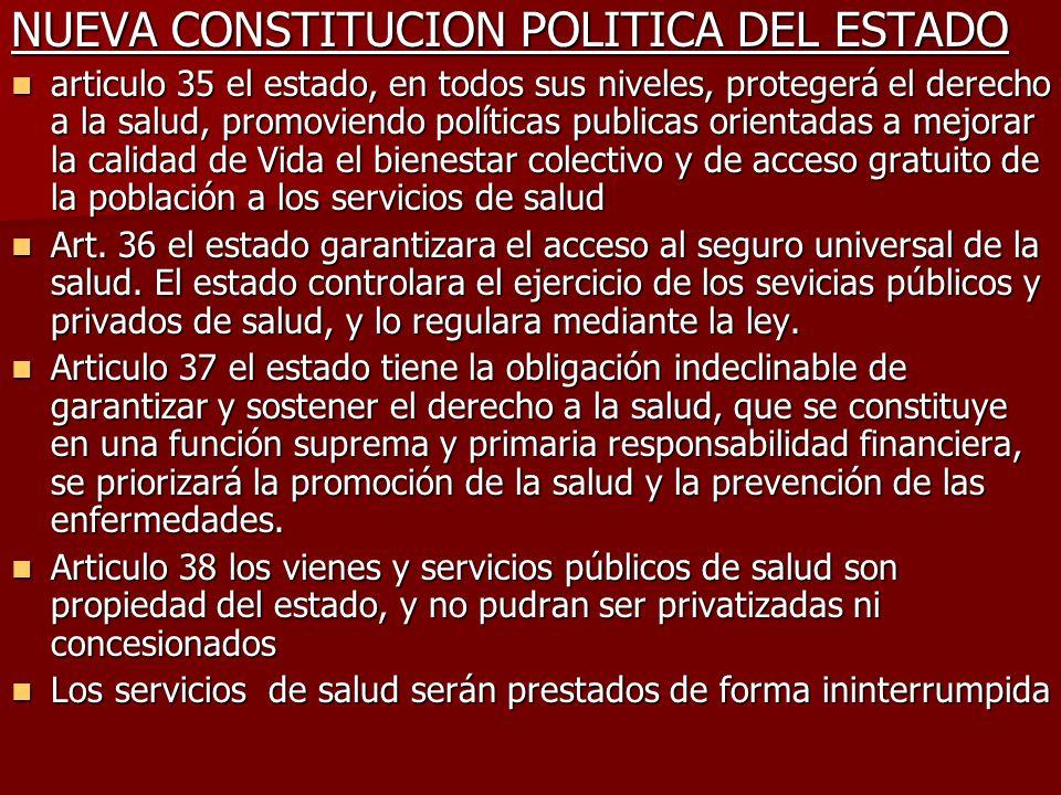 NUEVA CONSTITUCION POLITICA DEL ESTADO