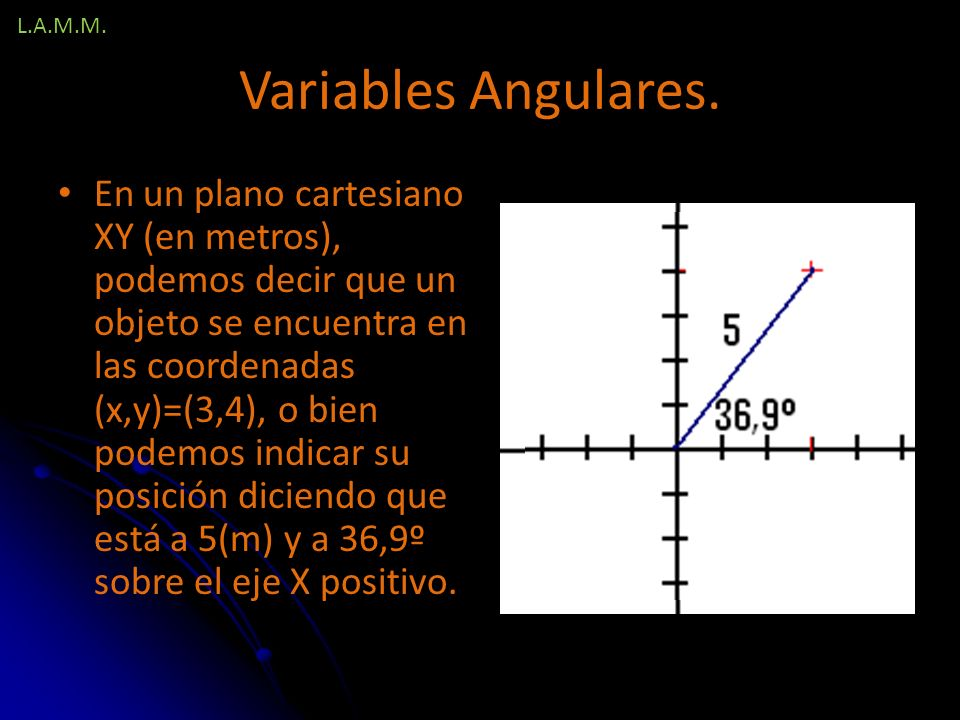 L.A.M.M. Variables Angulares.
