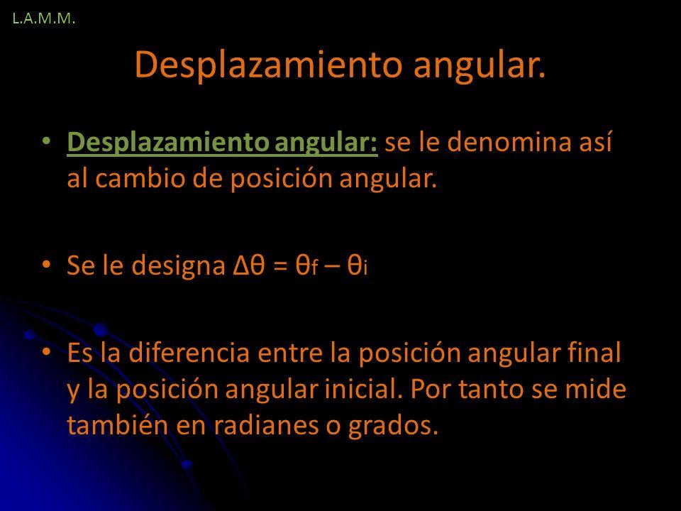 Desplazamiento angular.