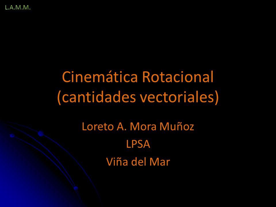 Cinemática Rotacional (cantidades vectoriales)