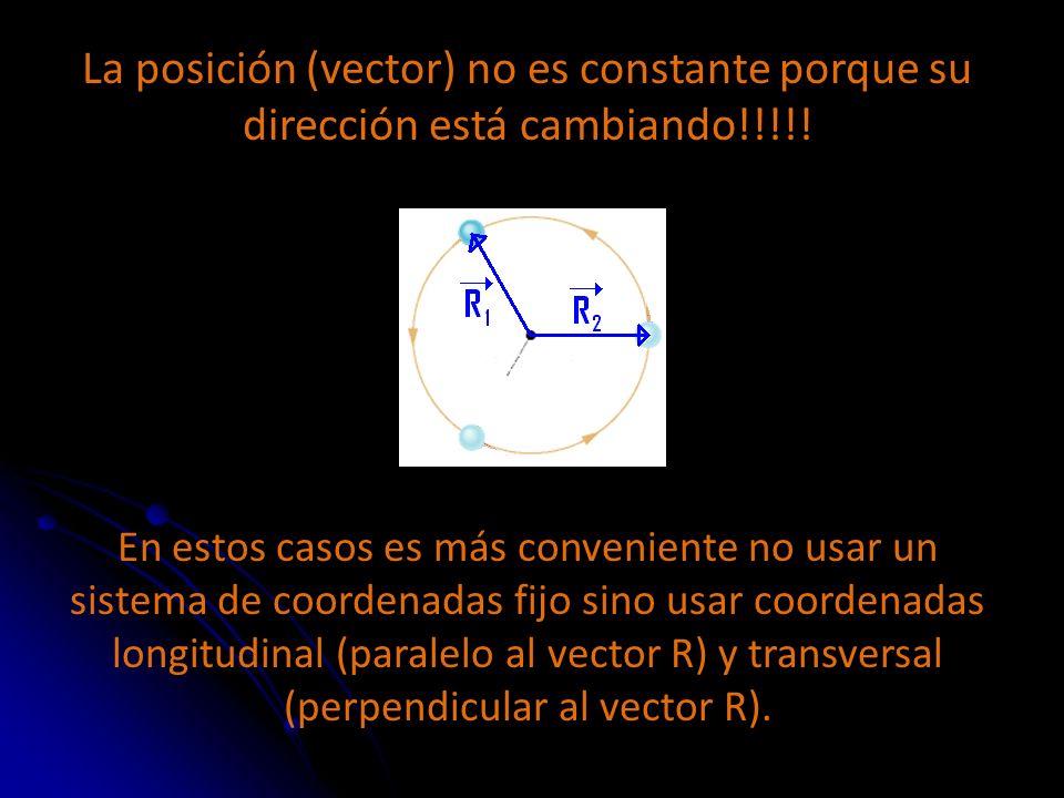 La posición (vector) no es constante porque su dirección está cambiando!!!!!