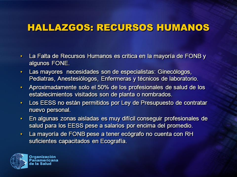 HALLAZGOS: RECURSOS HUMANOS