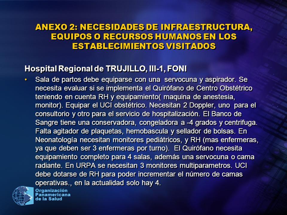 Hospital Regional de TRUJILLO, III-1, FONI