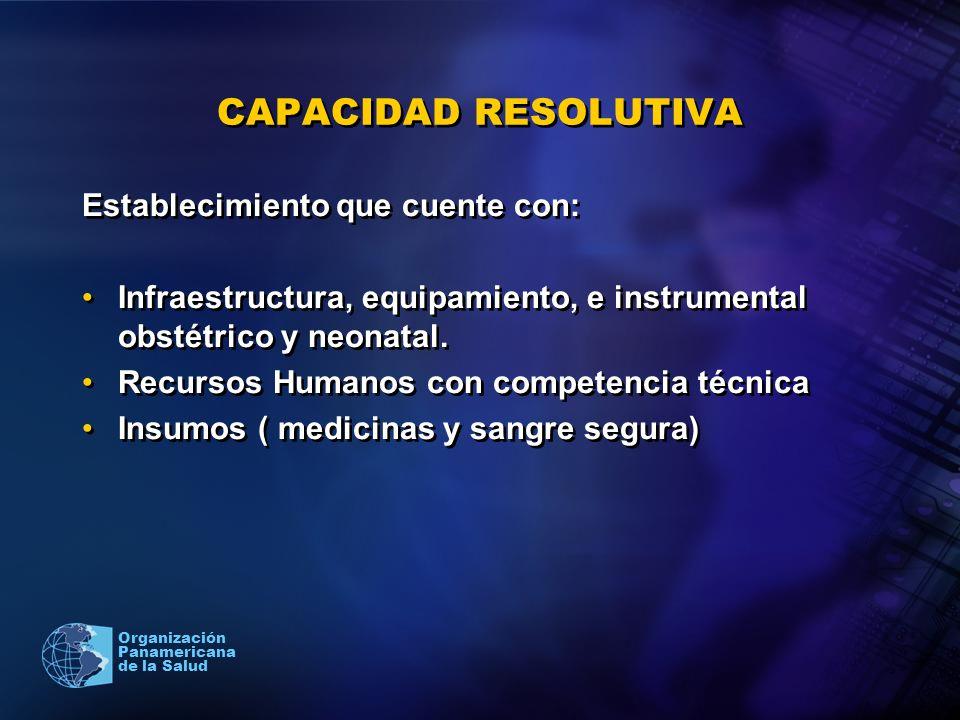 CAPACIDAD RESOLUTIVA Establecimiento que cuente con: