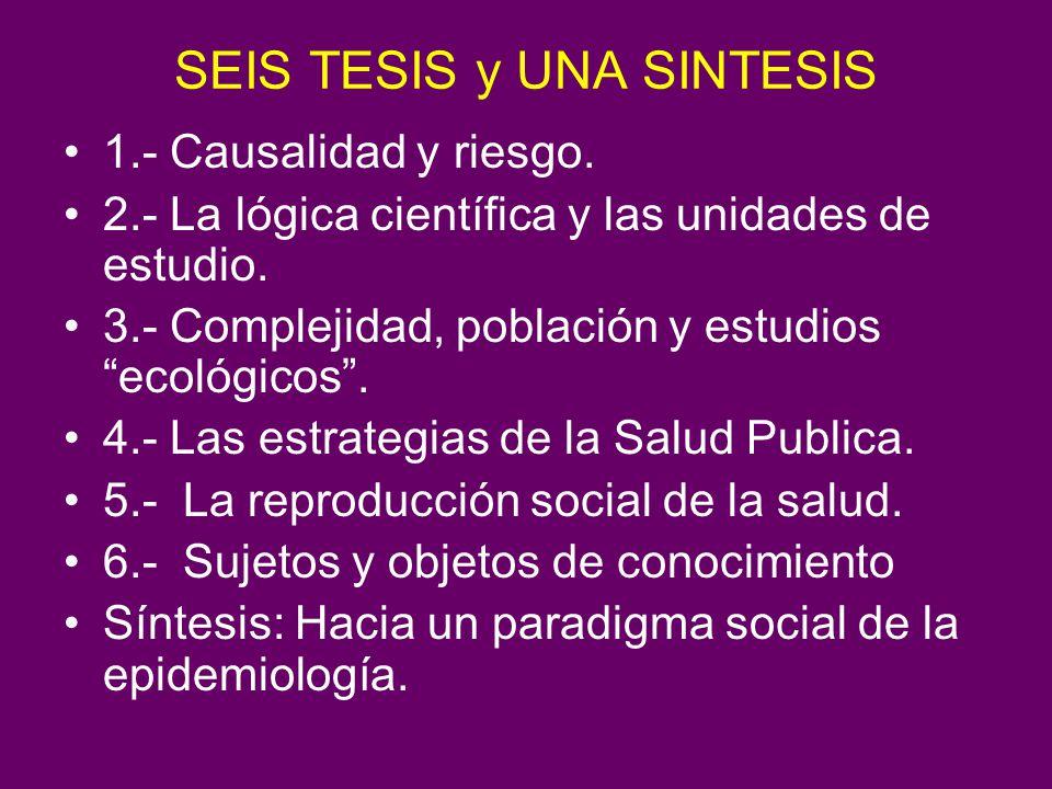 SEIS TESIS y UNA SINTESIS