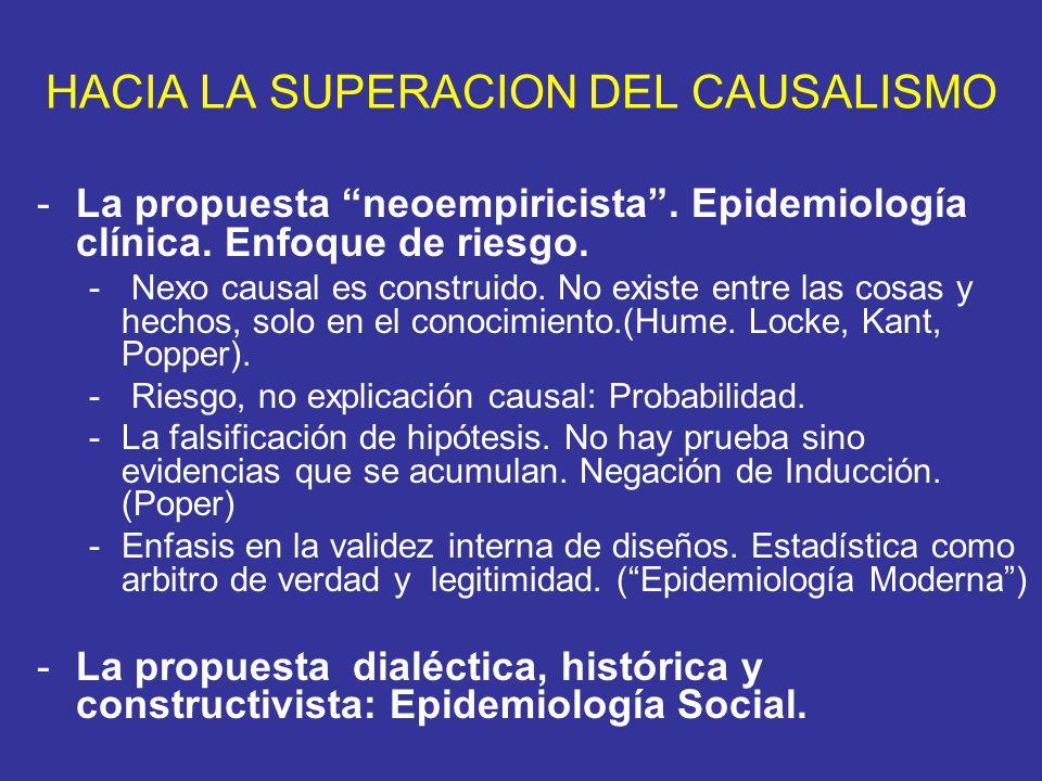 HACIA LA SUPERACION DEL CAUSALISMO