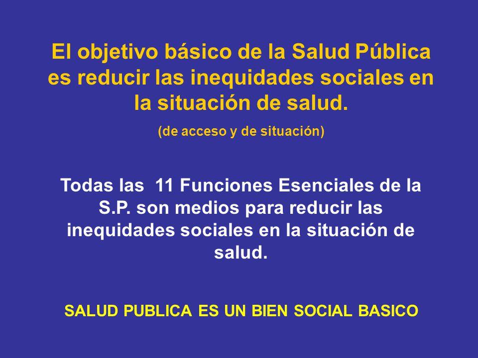 (de acceso y de situación) SALUD PUBLICA ES UN BIEN SOCIAL BASICO