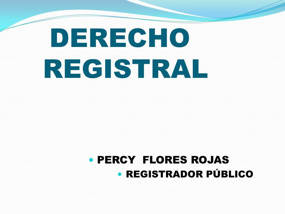 PERCY FLORES ROJAS REGISTRADOR PÚBLICO