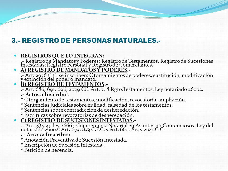 3.- REGISTRO DE PERSONAS NATURALES.-