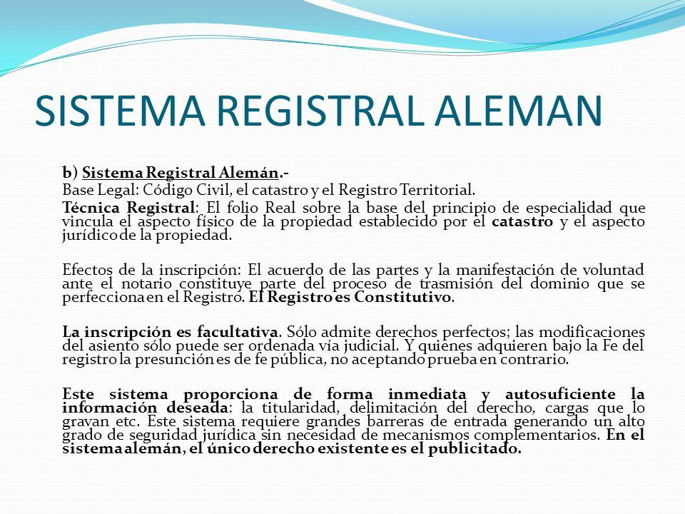 SISTEMA REGISTRAL ALEMAN