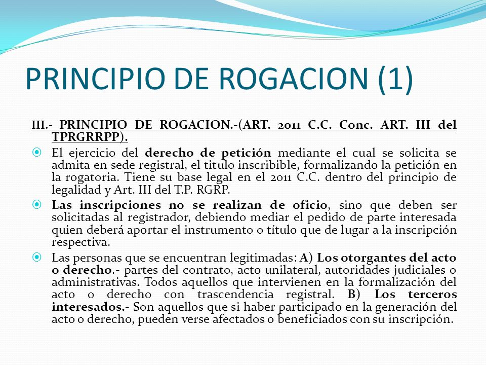 PRINCIPIO DE ROGACION (1)