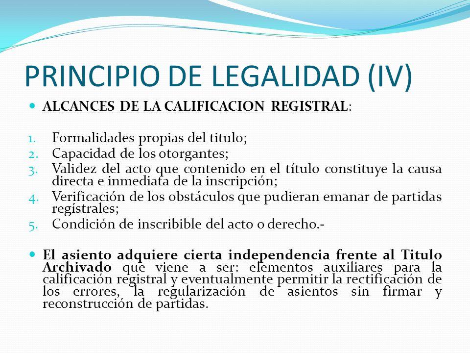PRINCIPIO DE LEGALIDAD (IV)