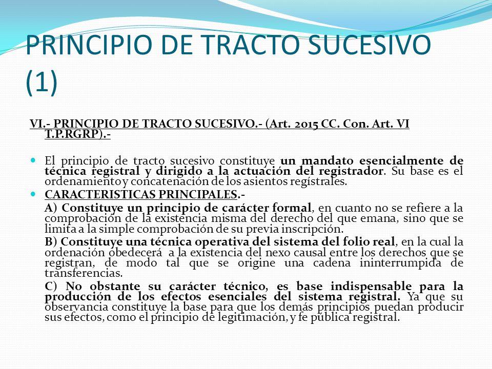 PRINCIPIO DE TRACTO SUCESIVO (1)