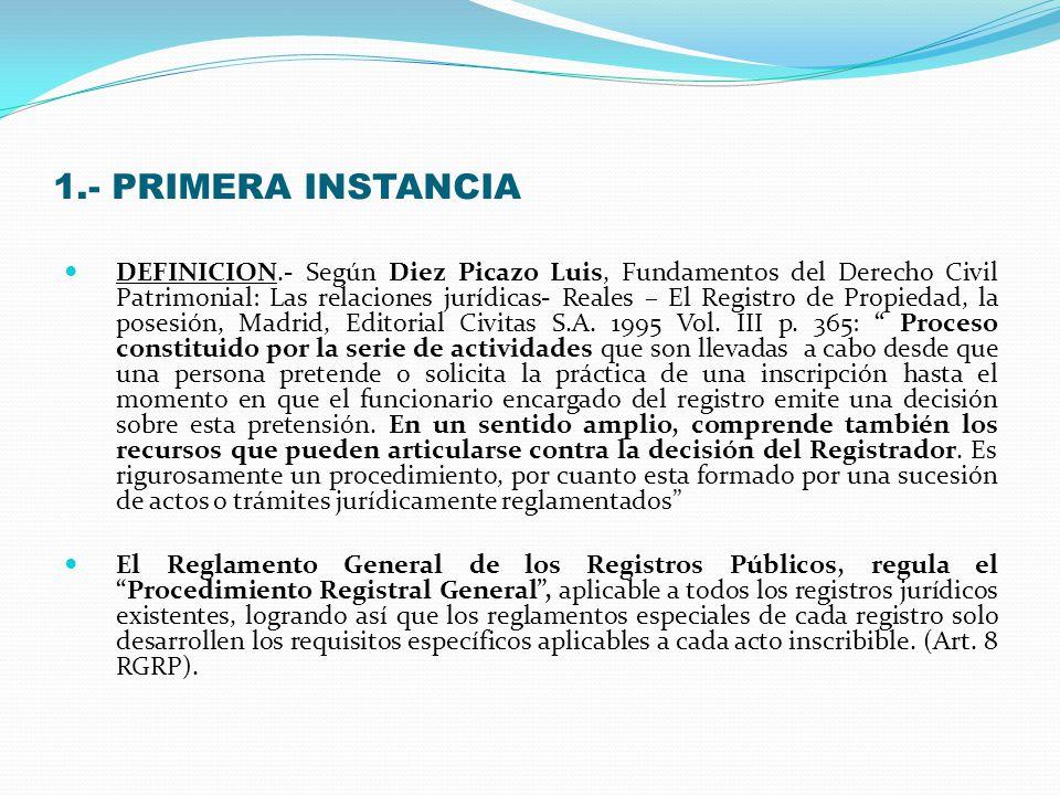1.- PRIMERA INSTANCIA