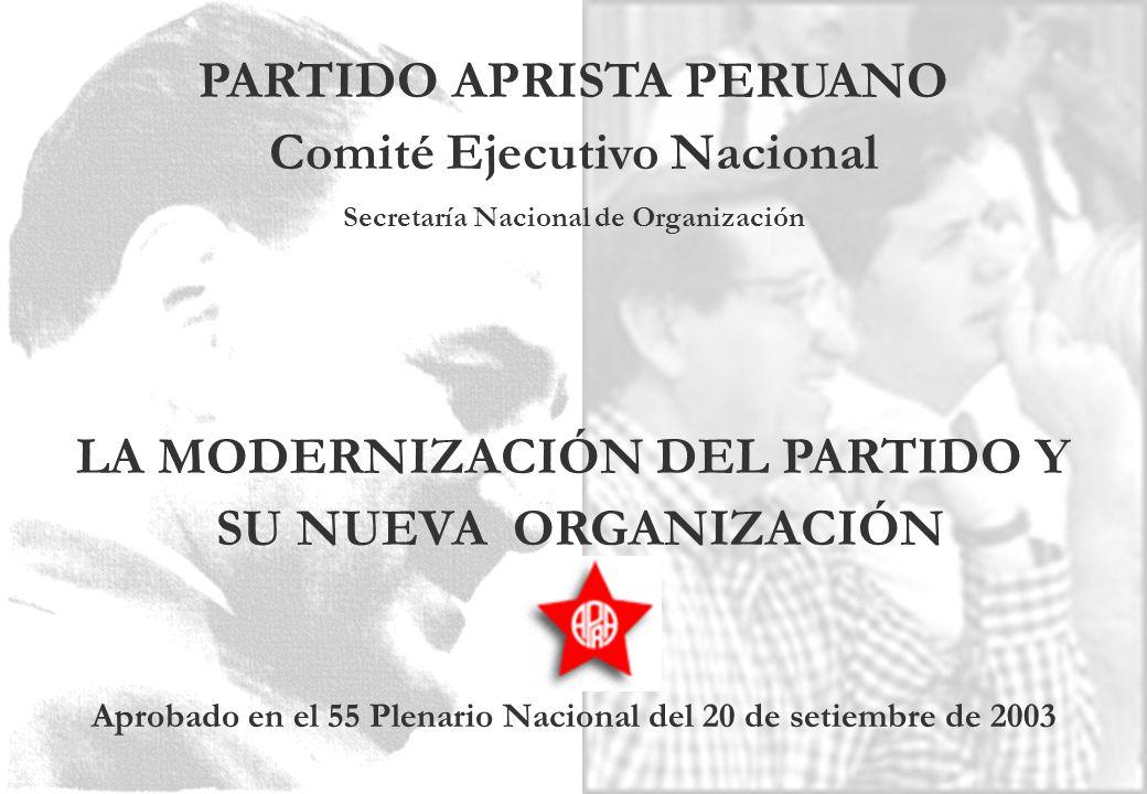 PARTIDO APRISTA PERUANO Comité Ejecutivo Nacional