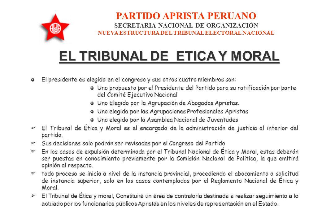 EL TRIBUNAL DE ETICA Y MORAL