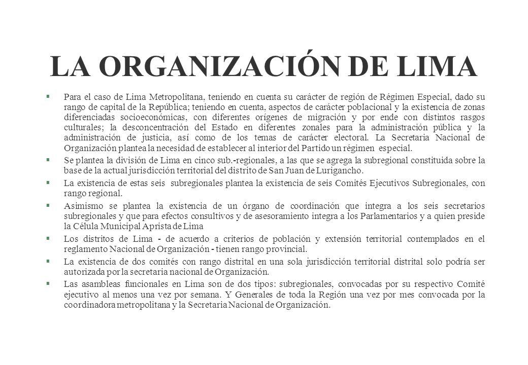 LA ORGANIZACIÓN DE LIMA