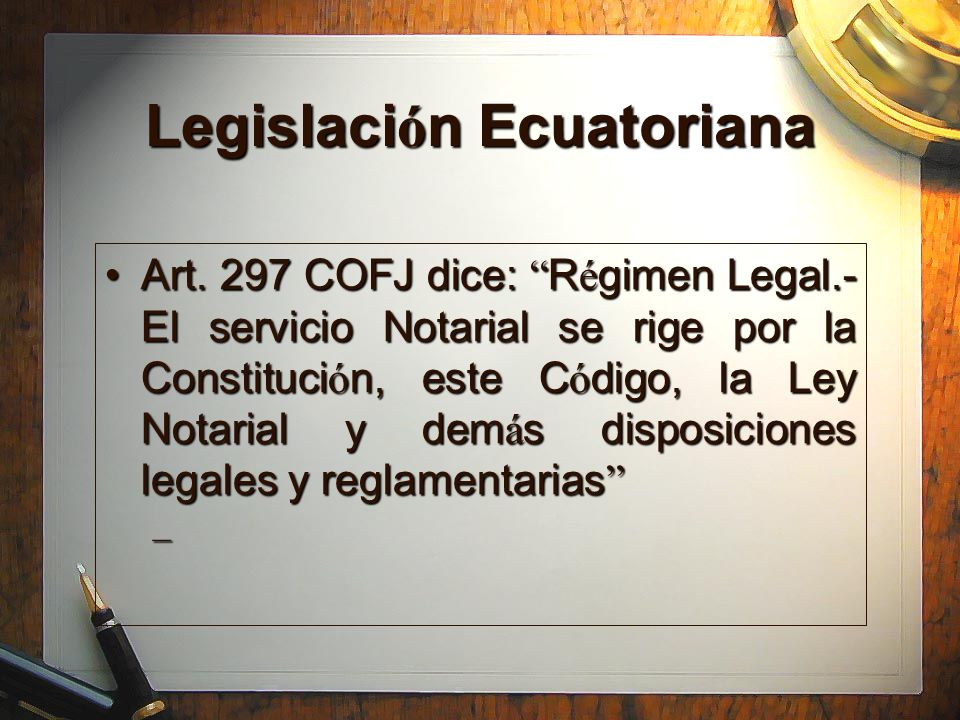 Legislación Ecuatoriana
