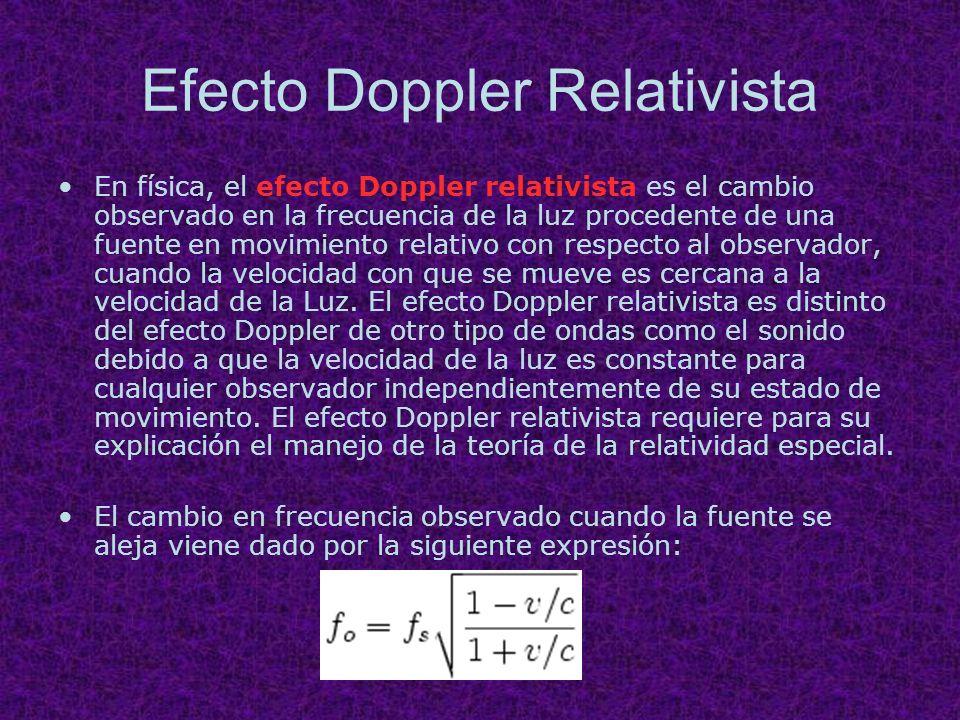 Efecto Doppler Relativista