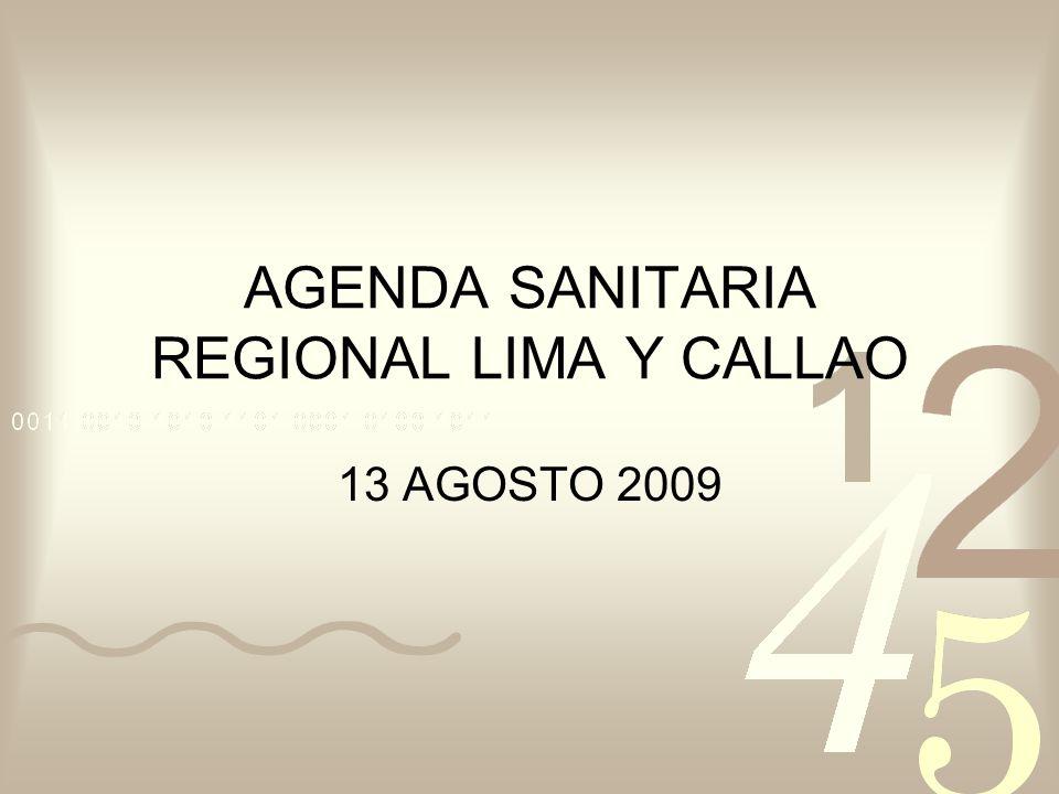 AGENDA SANITARIA REGIONAL LIMA Y CALLAO