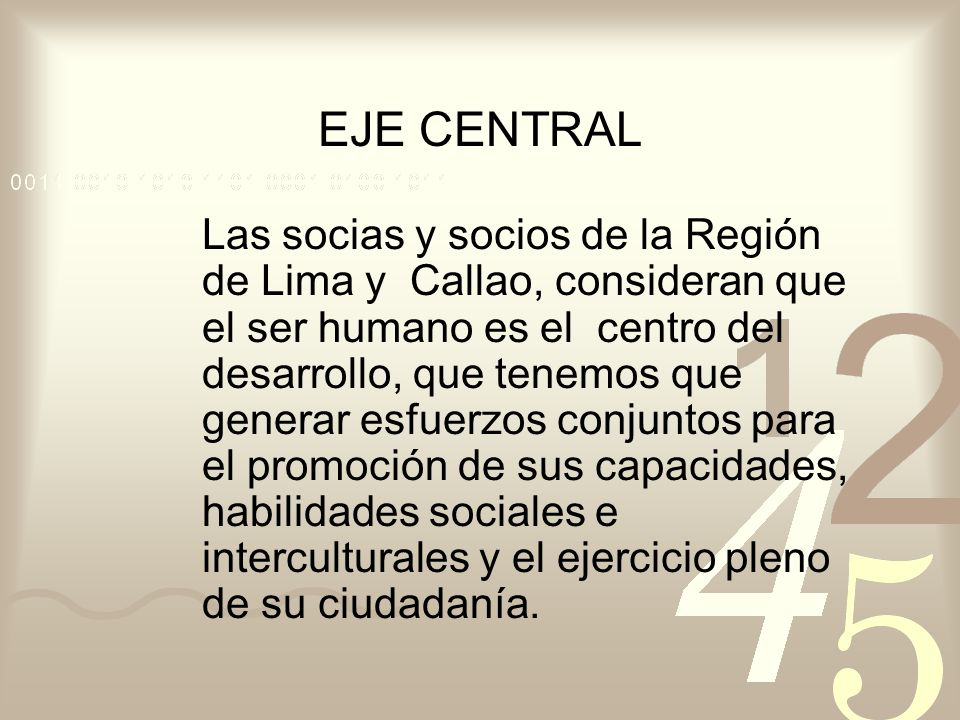 EJE CENTRAL