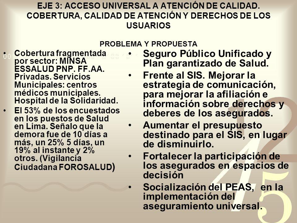 Seguro Público Unificado y Plan garantizado de Salud.