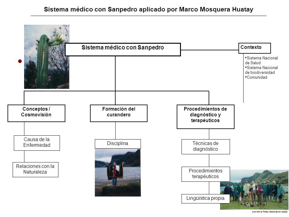Sistema médico con Sanpedro aplicado por Marco Mosquera Huatay