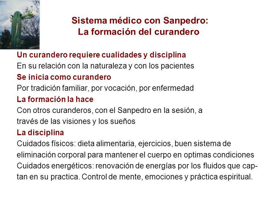 Sistema médico con Sanpedro: La formación del curandero