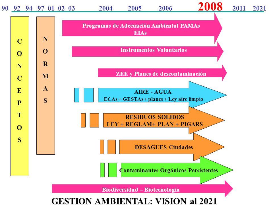 GESTION AMBIENTAL: VISION al 2021