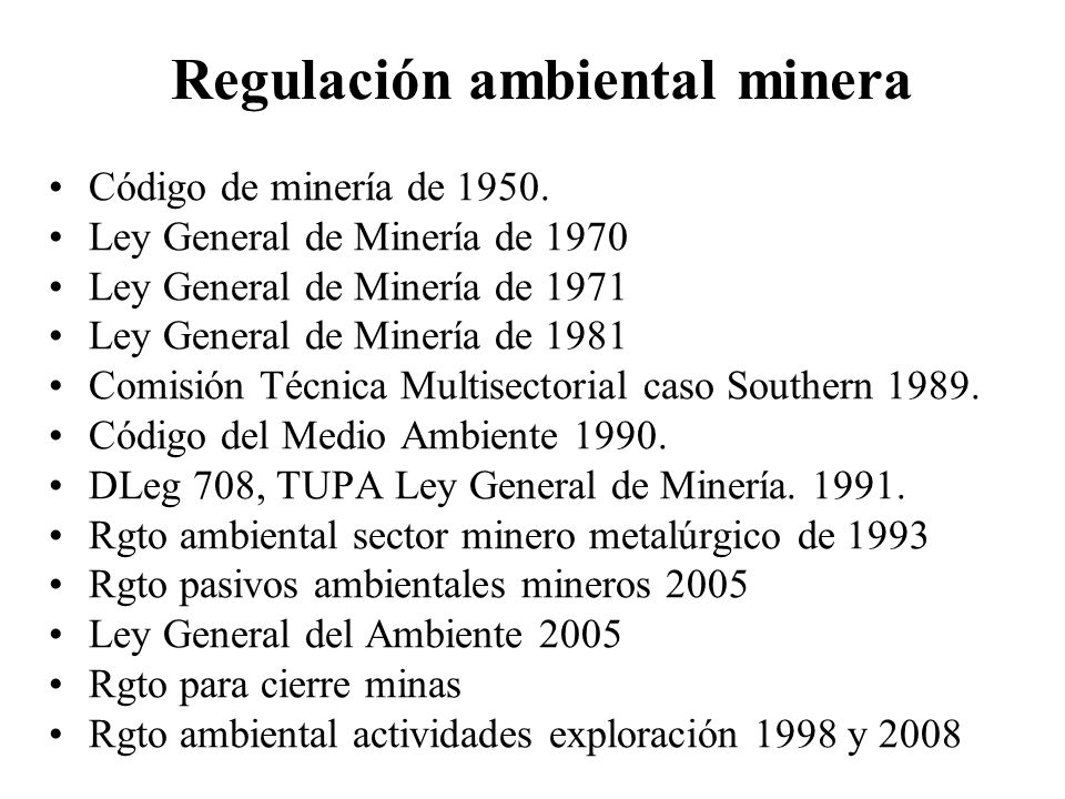 Regulación ambiental minera