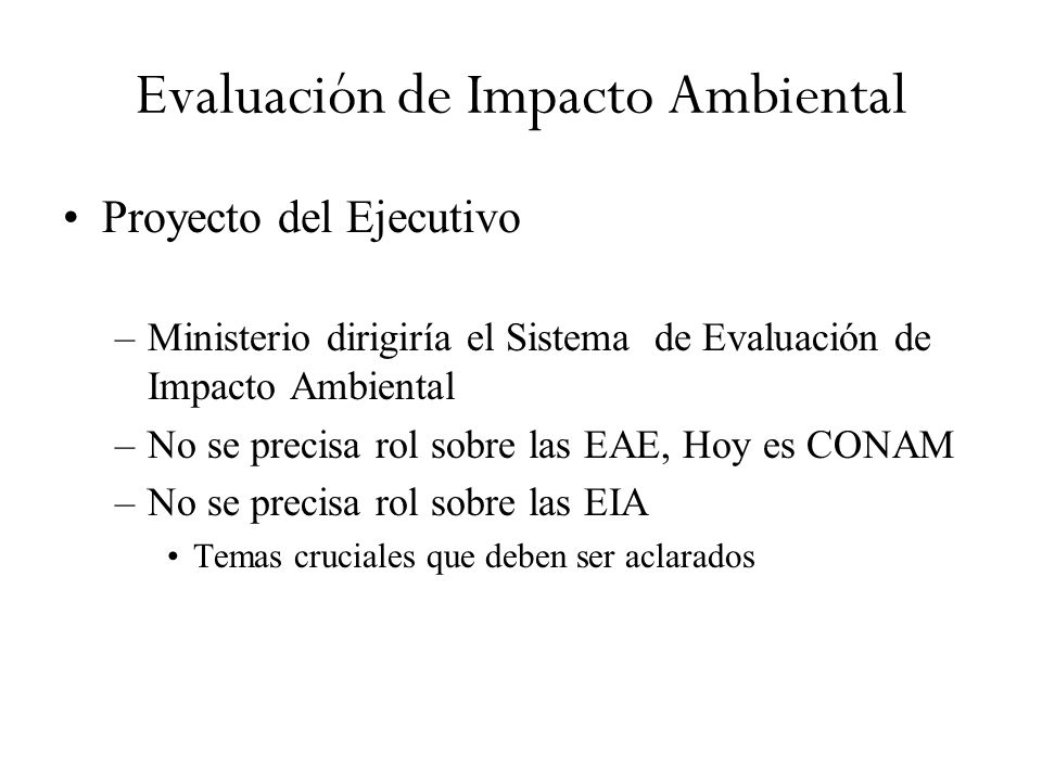 Evaluación de Impacto Ambiental