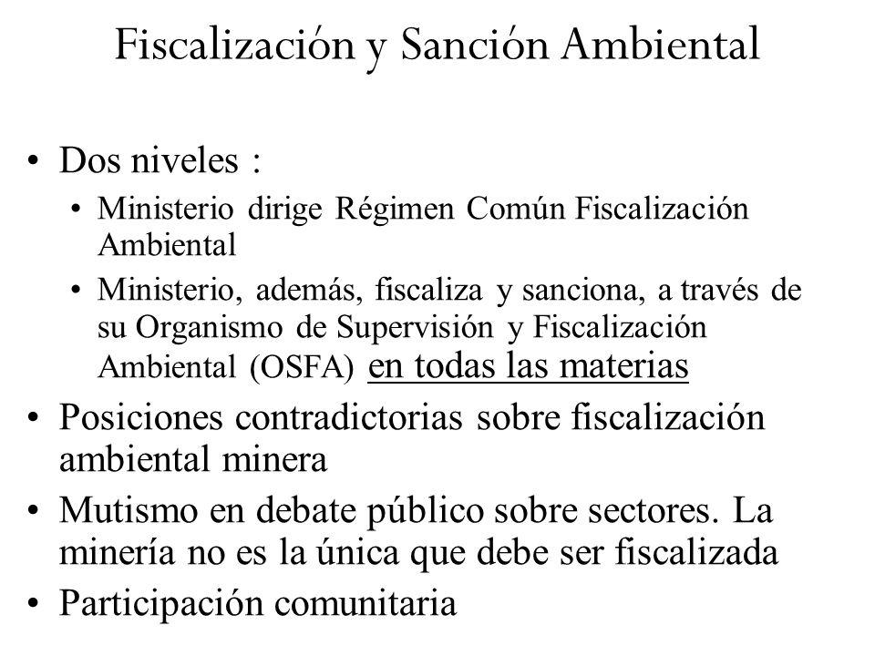 Fiscalización y Sanción Ambiental