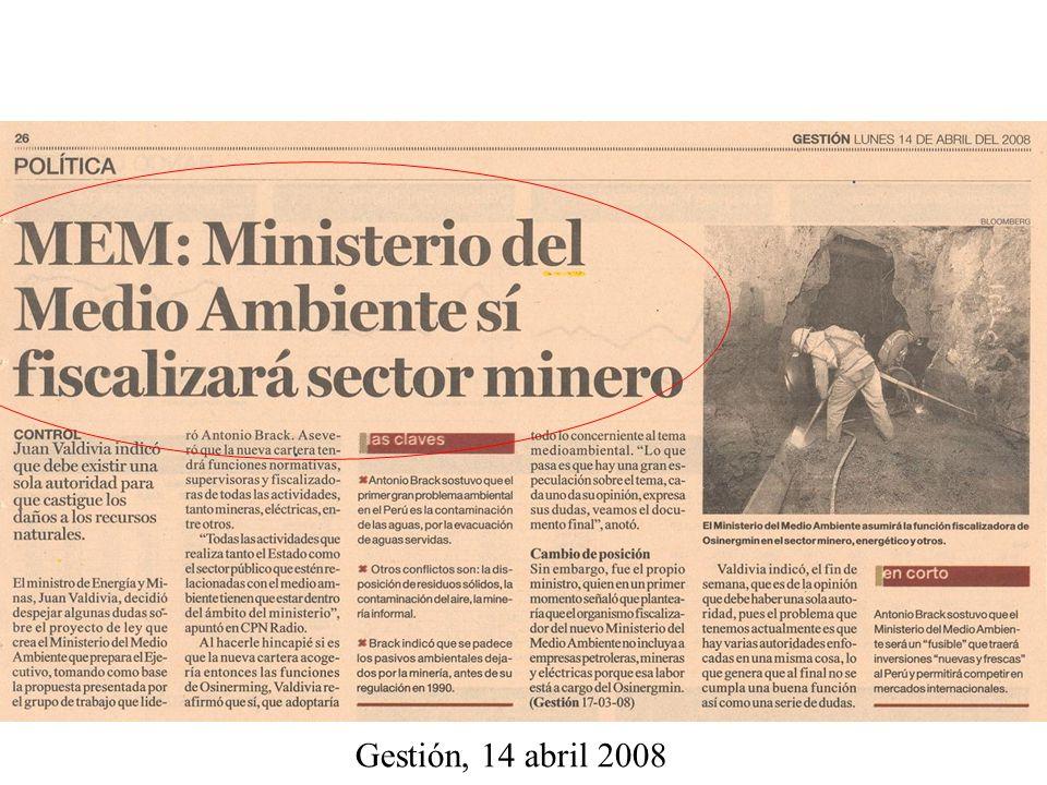 Gestión, 14 abril 2008