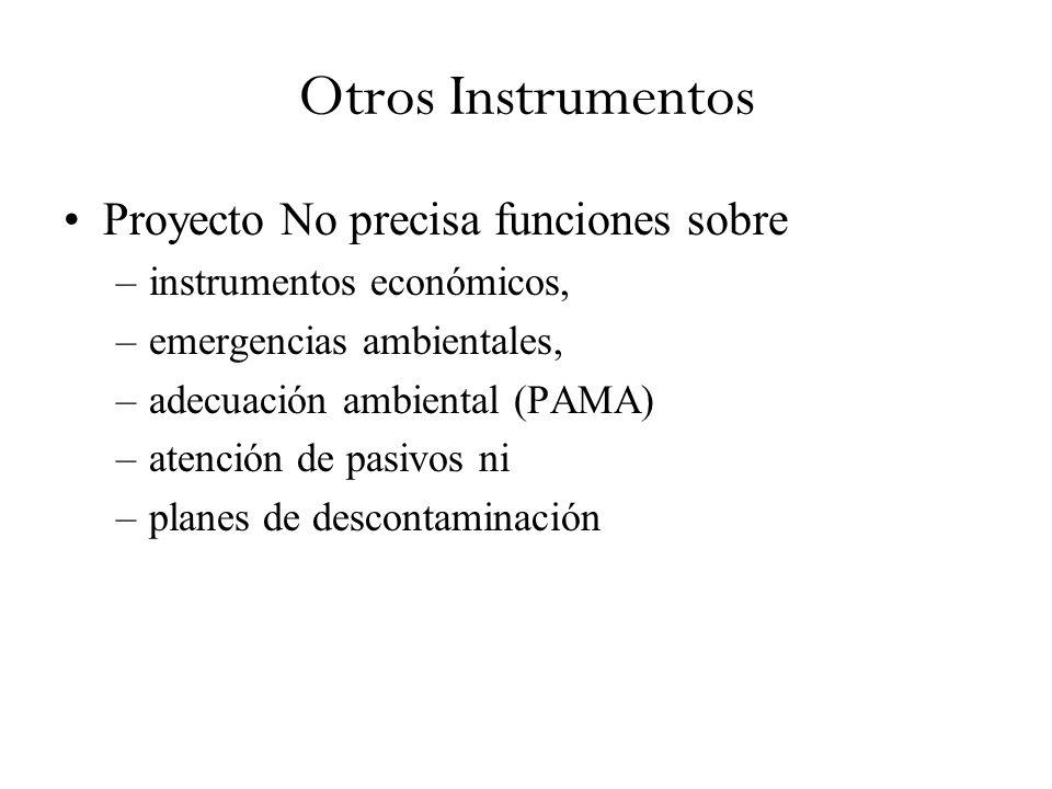 Otros Instrumentos Proyecto No precisa funciones sobre