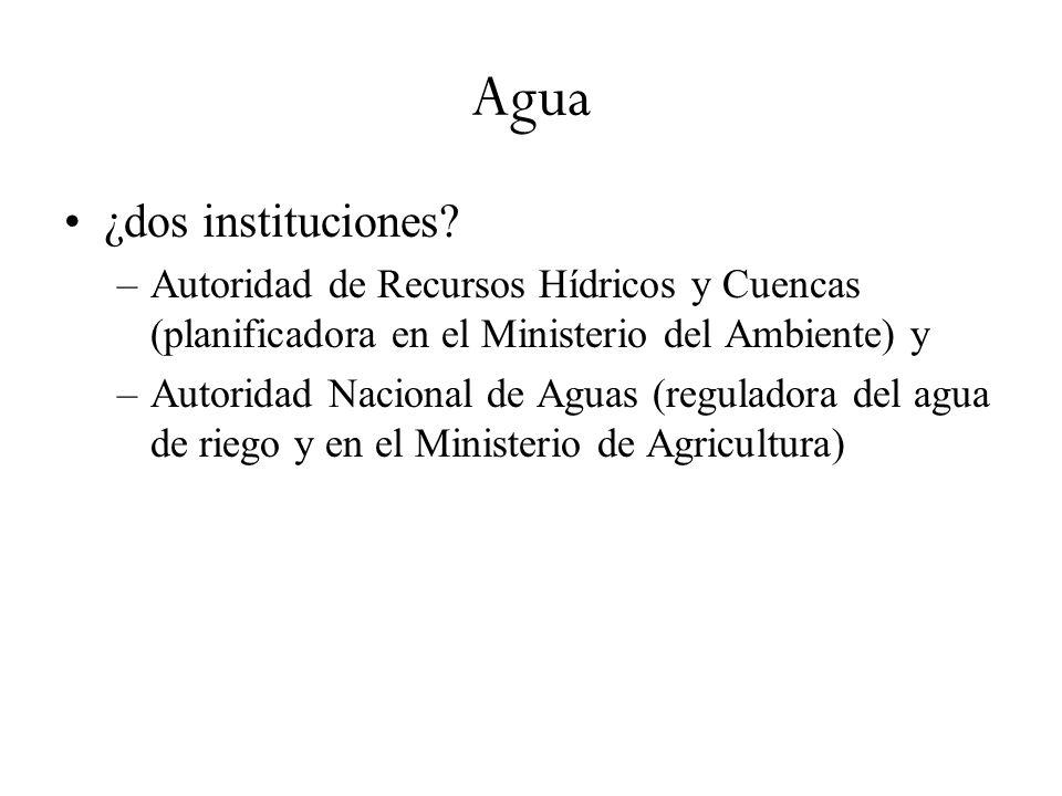 Agua ¿dos instituciones