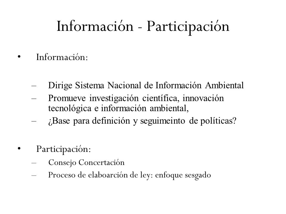 Información - Participación