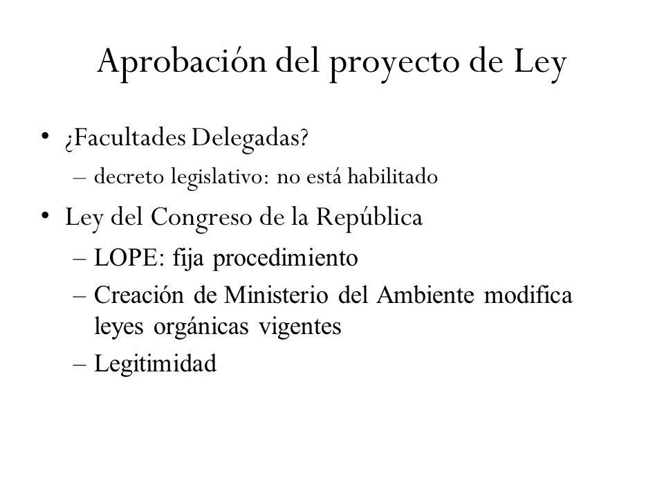 Aprobación del proyecto de Ley