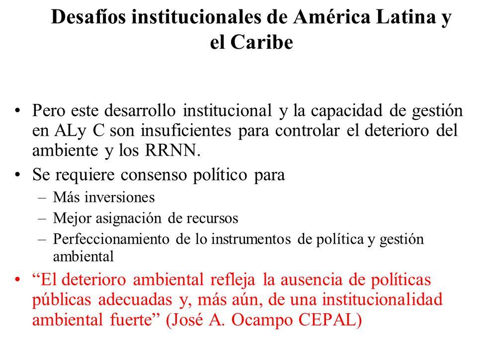 Desafíos institucionales de América Latina y el Caribe
