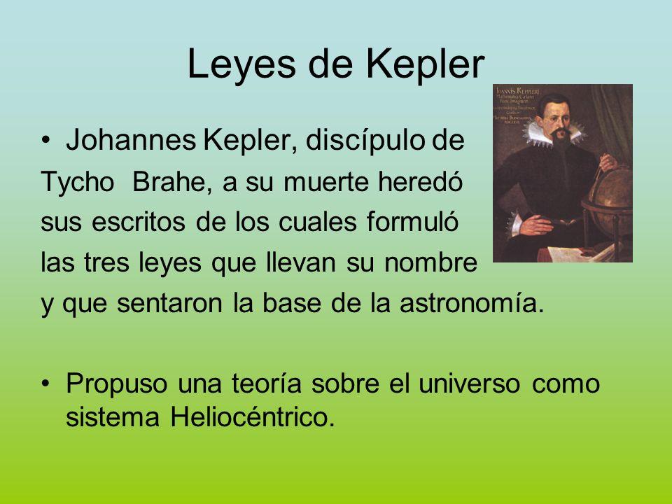 Leyes de Kepler Johannes Kepler, discípulo de