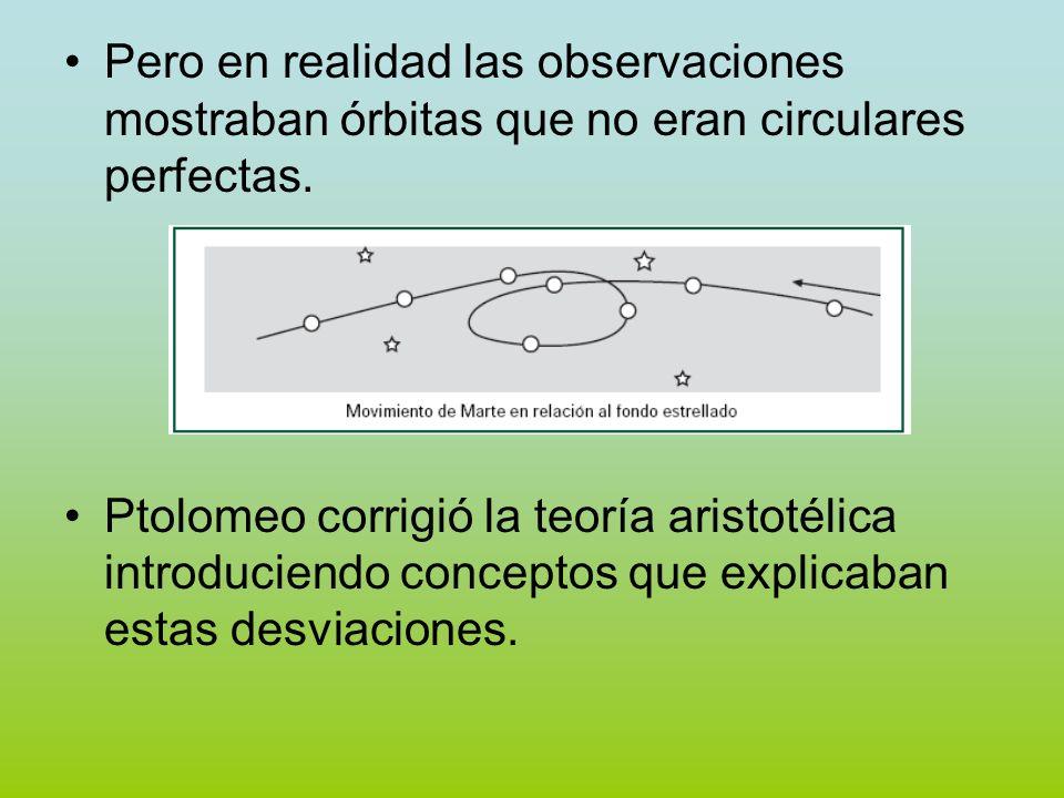 Pero en realidad las observaciones mostraban órbitas que no eran circulares perfectas.