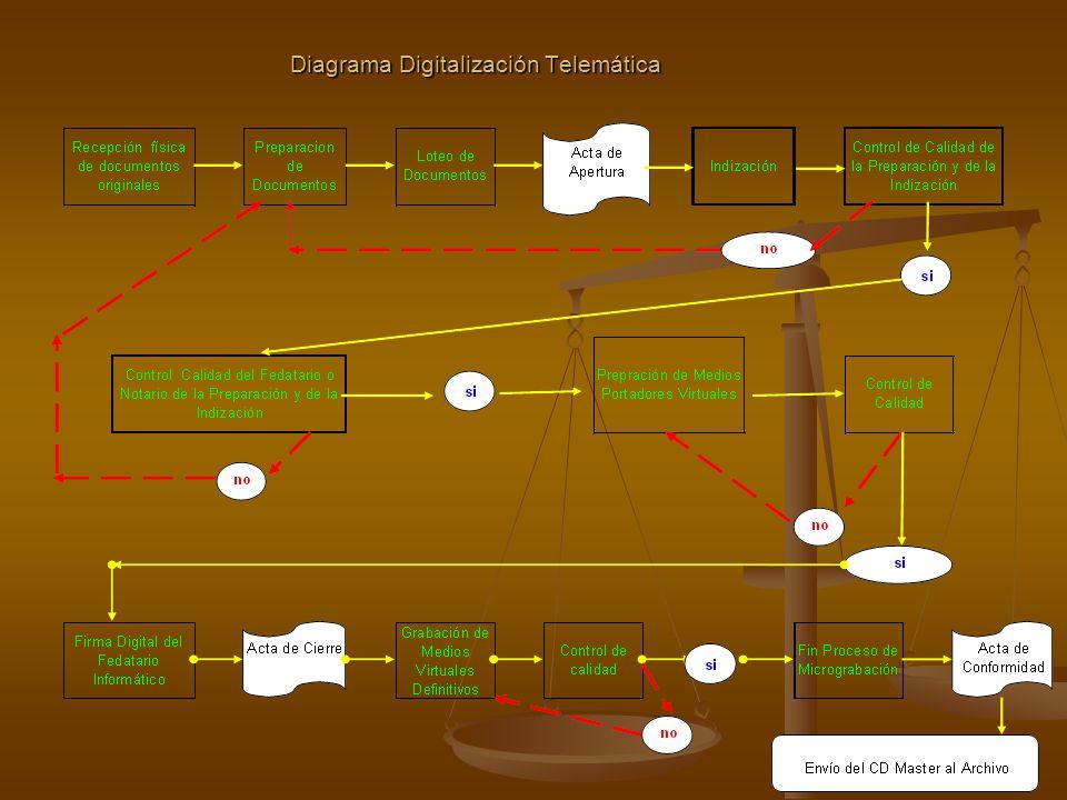 Diagrama Digitalización Telemática