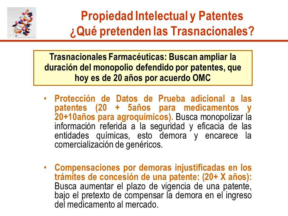 Propiedad Intelectual y Patentes ¿Qué pretenden las Trasnacionales