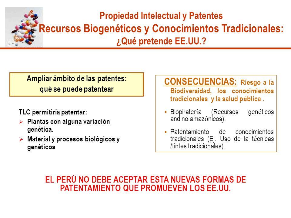 Propiedad Intelectual y Patentes Ampliar ámbito de las patentes:
