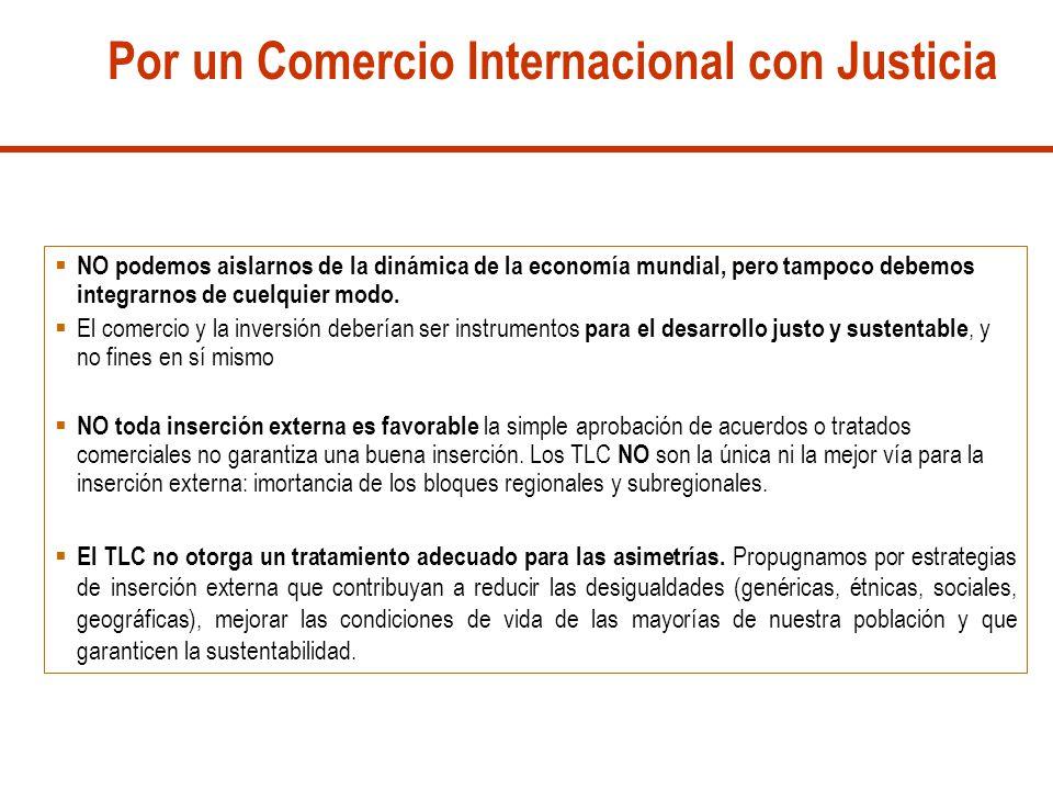 Por un Comercio Internacional con Justicia
