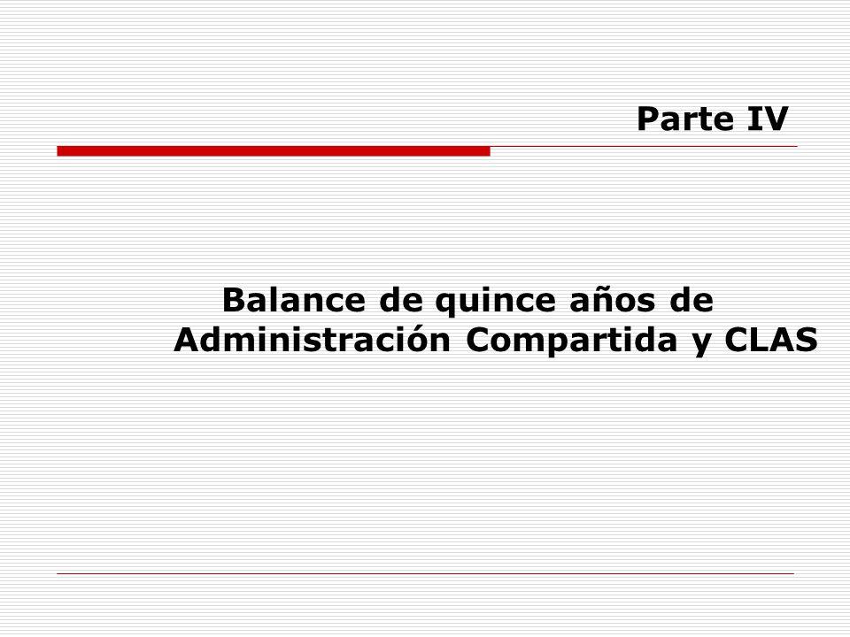 Balance de quince años de Administración Compartida y CLAS