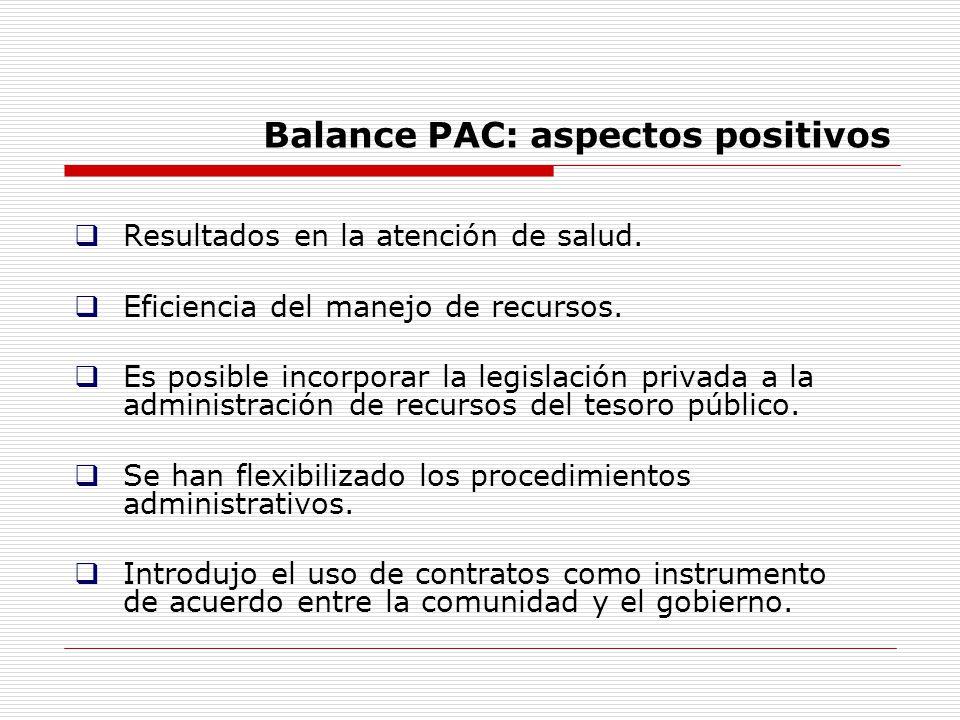 Balance PAC: aspectos positivos