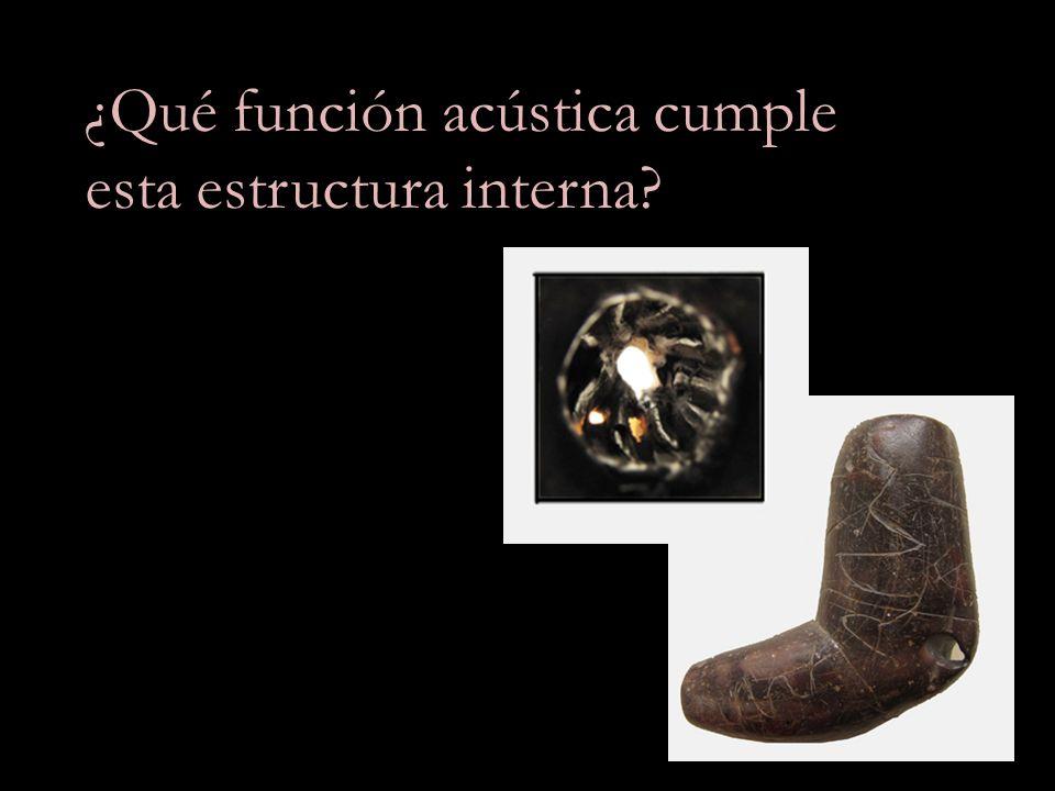 ¿Qué función acústica cumple esta estructura interna