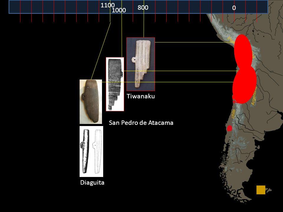 1100 800 1000 Tiwanaku San Pedro de Atacama Diaguita